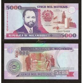 Mozambique 5,000 Meticais, 1991, P-136, UNC