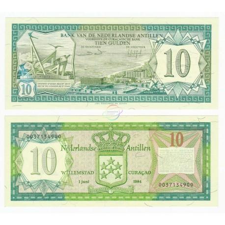 Netherlands Antilles 10 Gulden, 1984, P-16b, UNC