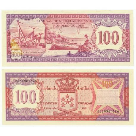 Netherlands Antilles 100 Gulden, 1981, P-19b, UNC