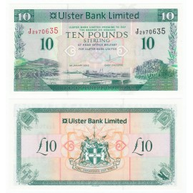 Northern Ireland 10 Pounds, 2012, P-341, UNC