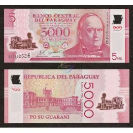 Paraguay 5,000 Guaranies, 2011, P-234, Polymer, UNC