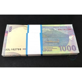 Indonesia 1,000 Rupiah X 100 PCS, X Replacement, Full Bundle, 2013-2016, P-141, UNC