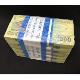 Indonesia 1,000 Rupiah X 1000 PCS, Full Brick, (2016) 2017, P-154, UNC