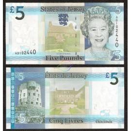 Jersey 5 Pounds, QE II, 2010, P-33, UNC