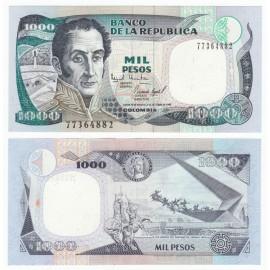 Colombia 1,000 Pesos, 1995, P-438, UNC