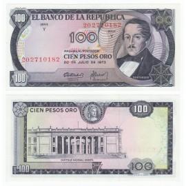 Colombia 100 Pesos Oro, 1973, P-415, UNC