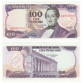 Colombia 100 Pesos, 1980, P-418b, UNC