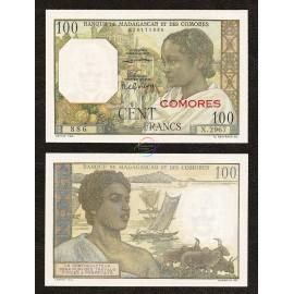 Comoros 100 Francs, 1963, P-3b, UNC