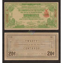 Philippines 20 Centavos, 1942, P-S644, AU