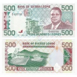 Sierra Leone 500 Leones, 1991, P-19, UNC