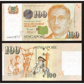 Singapore 100 Dollars, 2 Stars, 2018, P-50, UNC
