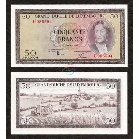 Luxembourg 50 Francs, 1961, P-51, UNC
