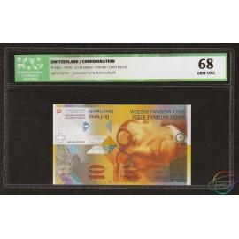 Switzerland 10 Francs Franken, 1996, P-66b, ICG 68 UNC