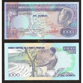 St. Thomas & Prince 1,000 Dobras, 1993, P-64, UNC