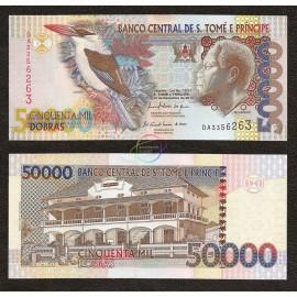 St. Thomas & Prince 50,000 Dobras, 2010, P-68, UNC