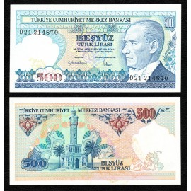 Turkey 500 Lira, 1983, P-195, UNC