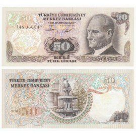 Turkey 50 Lira, 1972, P-188, UNC