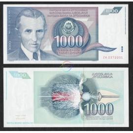 Yugoslavia 1,000 Dinara, ZA Replacement, 1991, P-110, UNC
