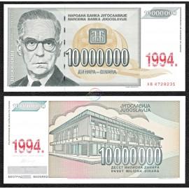 Yugoslavia 10,000,000 Dinara, 1994, P-144, UNC