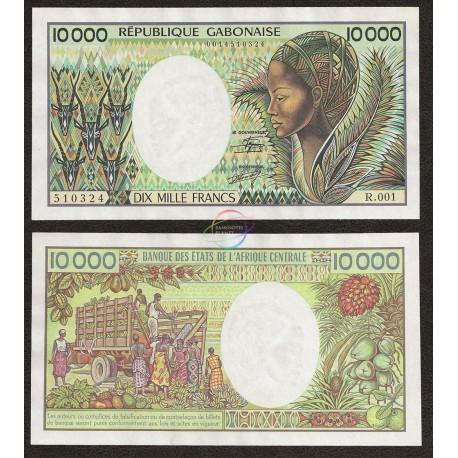Gabon 10,000 Francs, 1984, P-7a, UNC