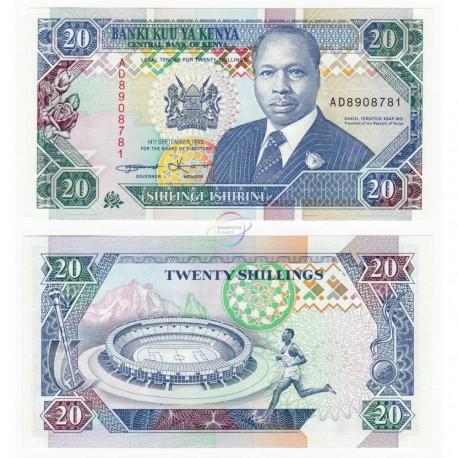 Kenya 20 Shillings, 1993, P-31a, UNC