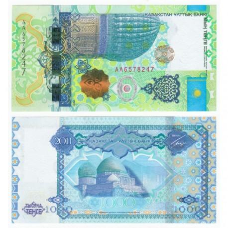 Kazakhstan 1,000 Tenge, AA Prefix, Commemorative, 2011, P-37, UNC