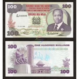 Kenya 100 Shillings, 1988, P-23f, UNC