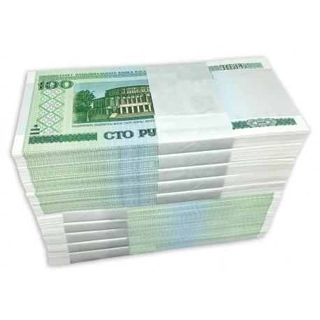 Belarus 100 Rubles X 1000 PCS, Full Brick, 2000 (2011), P-26b, UNC