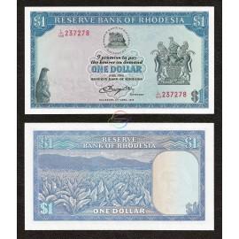 Rhodesia 1 Dollar, 1978, P-34c, UNC