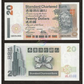 Hong Kong 20 Dollars, 1997, P-285b, UNC