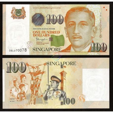 Singapore 100 Dollars, 3 Stars, 2018, P-50, UNC