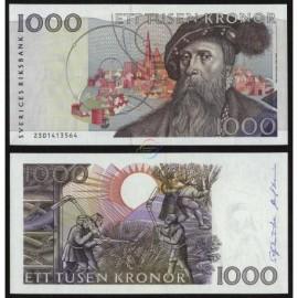 Sweden 1000 Kronur, 1992, P-60, UNC