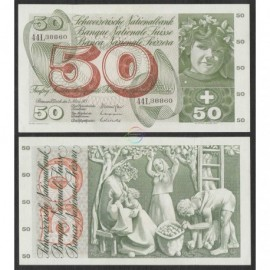 Switzerland 50 Francs, 1971, P-48k, aUNC