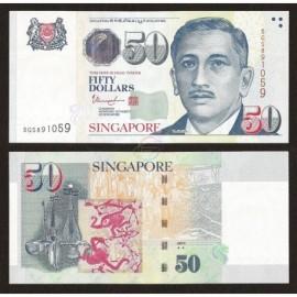 Singapore 50 Dollars, 2 Stars, 2017, P-49i, UNC