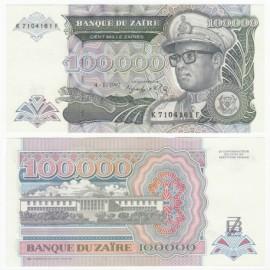 Zaire 100,000 Zaires, 1992, P-41, UNC