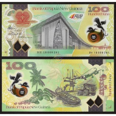 Papua New Guinea 100 Kina Commemorative, 2018, P-New, Polymer, UNC