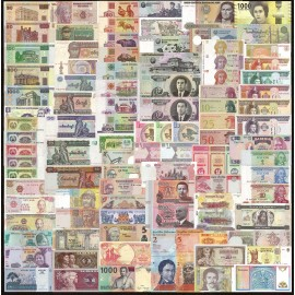 World 100 PCS Uncirculated Banknotes Set 35 Different Countries UNC