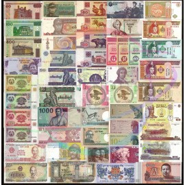 World 50 PCS Uncirculated Banknotes Set 20 Different Countries UNC