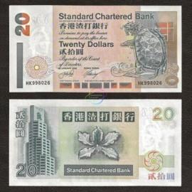 Hong Kong 20 Dollars, 2002, P-285d, UNC
