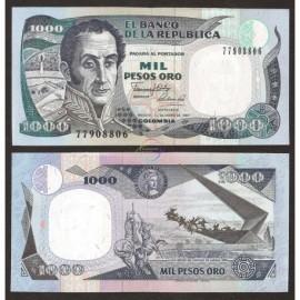 Colombia 1,000 Pesos, 1990, P-432, UNC