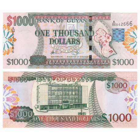 Guyana 1,000 Dollars, 2006, P-38b, UNC