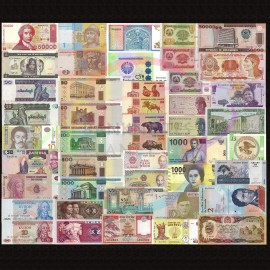 World 50 PCS Uncirculated Banknotes Set 28 Different Countries Currency Lot UNC