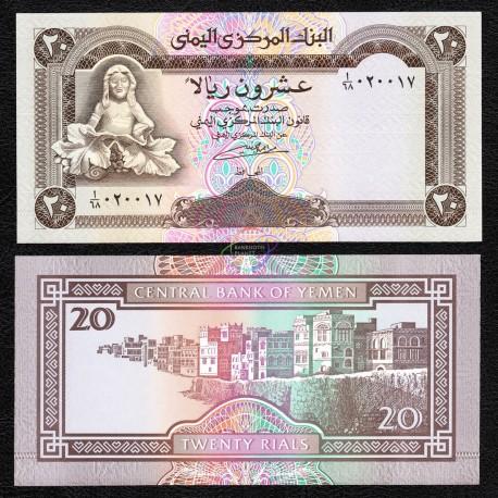 Yemen 20 Rials, 1990, P-26, UNC