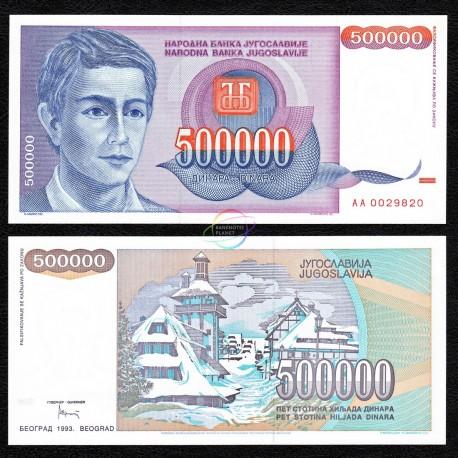 Yugoslavia 500,000 Dinara, 1993, P-119, UNC