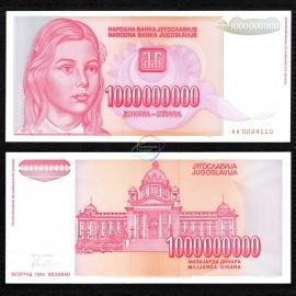 Yugoslavia 1 Billion Dinara, 1993, P-126, UNC