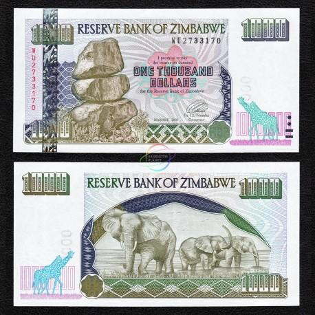 Zimbabwe 1,000 Dollars, 2003, P-12, UNC