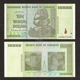 Zimbabwe 10 Trillion Dollars, 2008, P-88, UNC