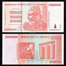 Zimbabwe 20 Trillion Dollars, 2008, P-89, UNC