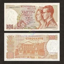 Belgium 50 Francs, 1966, P-139, UNC