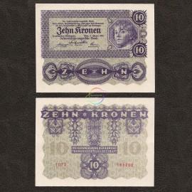 Austria 10 Kronen, 1922, P-75, UNC